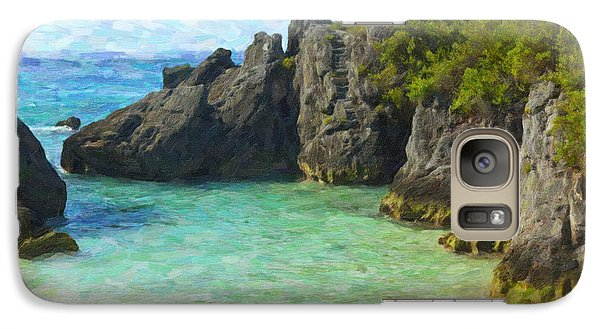 Galaxy Case featuring the photograph Jobson Cove Beach by Verena Matthew