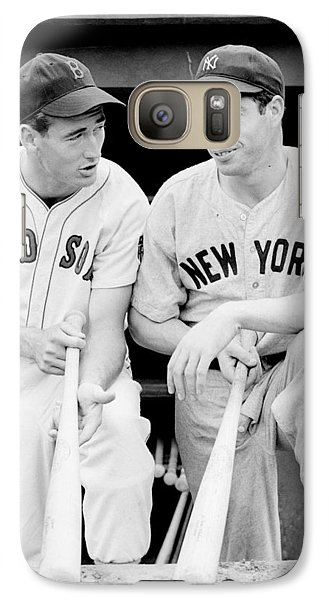 Joe Dimaggio And Ted Williams Galaxy S7 Case by Gianfranco Weiss