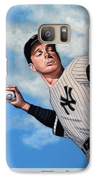 Professional Baseball Teams Galaxy S7 Case - Joe Dimaggio by Paul Meijering
