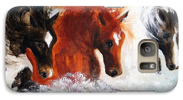 Galaxy Case featuring the painting Joe Tj Apache by Barbie Batson