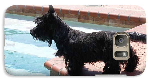 Galaxy Case featuring the photograph Joey At The Pool by Diane Ferguson