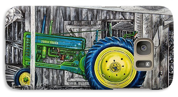 Galaxy Case featuring the painting John Deere Green by Craig T Burgwardt