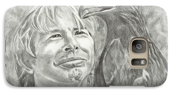 Galaxy Case featuring the drawing John Denver And Friend by Carol Wisniewski