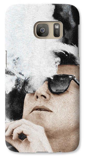 John F Kennedy Cigar And Sunglasses Galaxy S7 Case