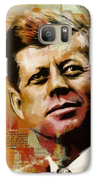 John F. Kennedy Galaxy S7 Case by Corporate Art Task Force