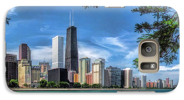John Hancock Chicago Skyline Panorama Galaxy S7 Case by Christopher Arndt