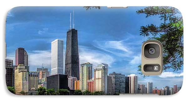 John Hancock Chicago Skyline Panorama Galaxy S7 Case