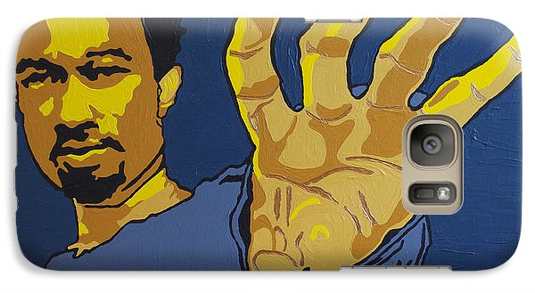 Galaxy Case featuring the painting John Legend by Rachel Natalie Rawlins