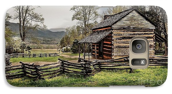Galaxy Case featuring the photograph John Oliver's Cabin In Spring. by Debbie Green