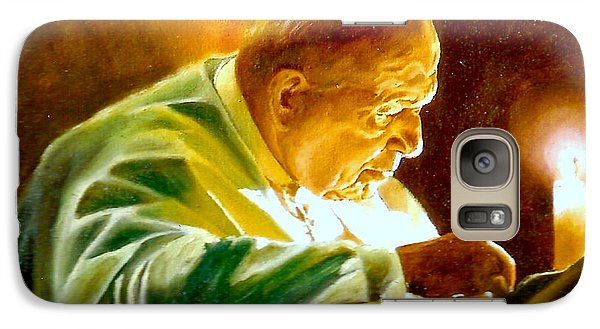 Galaxy Case featuring the painting John Paul II by Henryk Gorecki