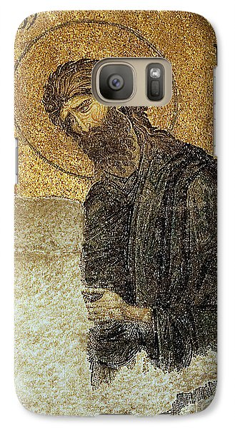 Galaxy Case featuring the photograph John The Baptist-detail Of Deesis Mosaic  Hagia Sophia-judgement Day by Urft Valley Art