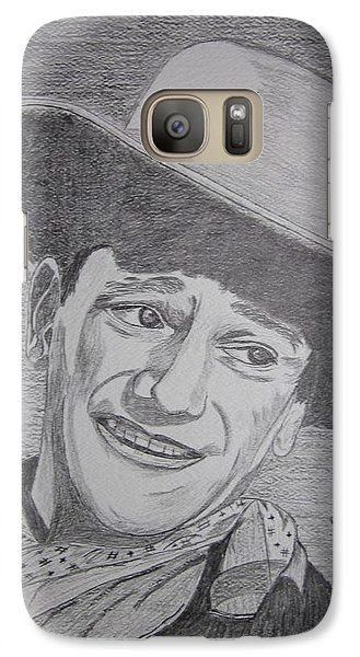 Galaxy Case featuring the painting John Wayne by Kathy Marrs Chandler