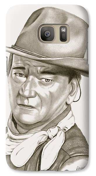 Galaxy Case featuring the drawing John Wayne by Patricia Hiltz
