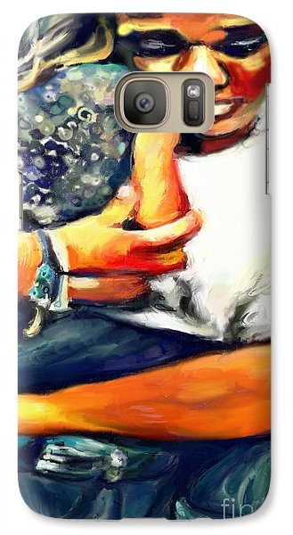 Galaxy Case featuring the painting Johnelle Saving The World One Child At A Time by Vannetta Ferguson