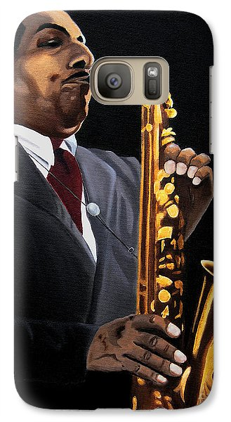Galaxy Case featuring the painting Johnny And The Sax by Barbara McMahon