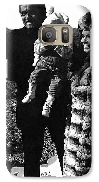 Galaxy Case featuring the photograph Johnny Cash And Family Old Tucson Arizona 1971 by David Lee Guss