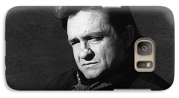 Galaxy Case featuring the photograph Johnny Cash Close-up The Man Comes Around Music Homage Old Tucson Az  by David Lee Guss