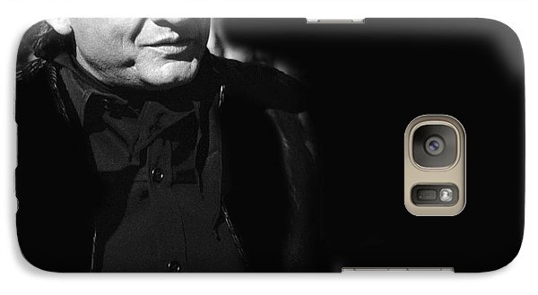 Galaxy Case featuring the photograph Johnny Cash Film Noir Homage Old Tucson Arizona 1971 by David Lee Guss