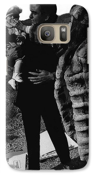 Galaxy Case featuring the photograph Johnny Cash Flesh And Blood Music Homage Cash Family Old Tucson Az by David Lee Guss