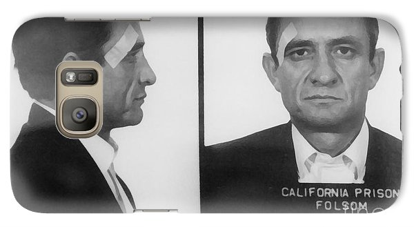Johnny Cash Galaxy S7 Case - Johnny Cash Folsom Prison Large Canvas Art, Canvas Print, Large Art, Large Wall Decor, Home Decor by David Millenheft
