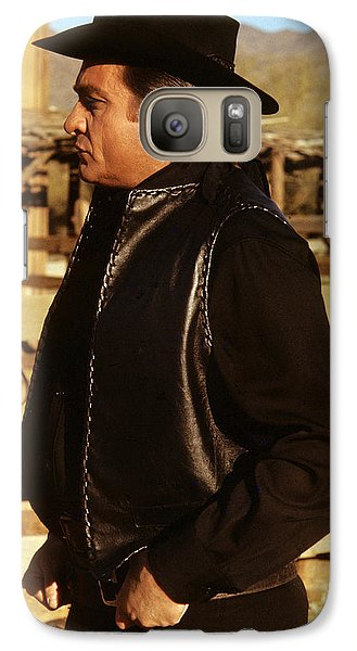 Galaxy Case featuring the photograph Johnny Cash Golden Gate Peak Old Tucson Arizona 1971 by David Lee Guss