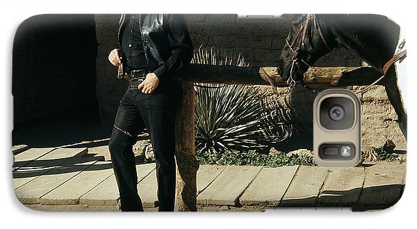 Galaxy Case featuring the photograph Johnny Cash Horse Old Tucson Arizona 1971 by David Lee Guss