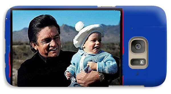 Galaxy Case featuring the photograph Johnny Cash John Carter Cash Old Tucson Arizona 1971 by David Lee Guss