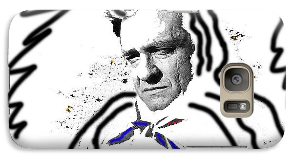 Galaxy Case featuring the photograph Johnny Cash Man In White Literary Homage Old Tucson Arizona 1971-2008 by David Lee Guss