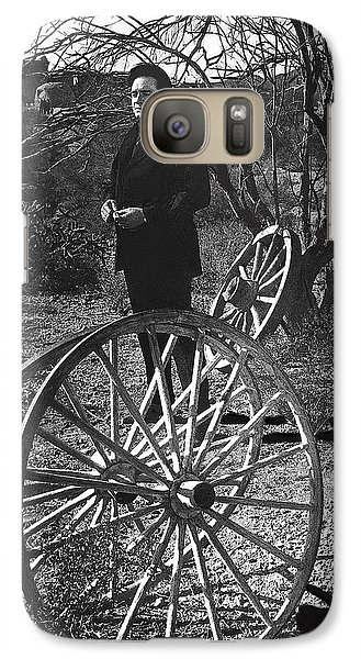 Galaxy Case featuring the photograph Johnny Cash  Meditating Wagon Wheel Graveyard Old Tucson Arizona 1971 by David Lee Guss