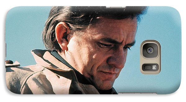 Galaxy Case featuring the photograph Johnny Cash  Music Homage Ballad Of Ira Hayes Old Tucson Arizona 1971 by David Lee Guss