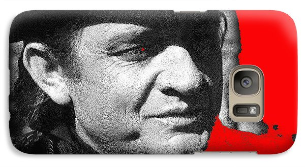 Galaxy Case featuring the photograph Johnny Cash Music Homage Ring Of Fire Old Tucson Arizona 1971 by David Lee Guss