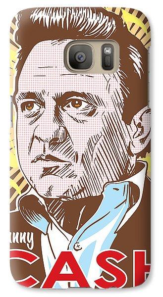 Johnny Cash Galaxy S7 Case - Johnny Cash Pop Art by Jim Zahniser