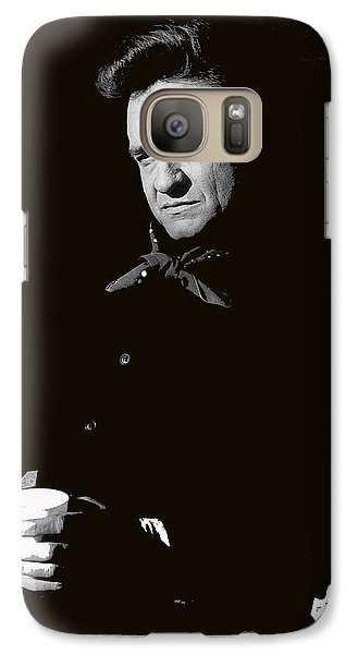 Galaxy Case featuring the photograph Johnny Cash Sitting With Cup  Old Tucson Arizona 1971-2009 by David Lee Guss