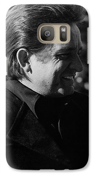 Galaxy Case featuring the photograph Johnny Cash Smiling Old Tucson Arizona 1971 by David Lee Guss