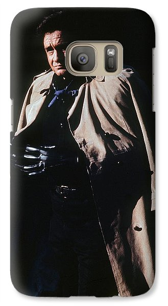 Galaxy Case featuring the photograph Johnny Cash Trench Coat Old Tucson Arizona 1971 by David Lee Guss