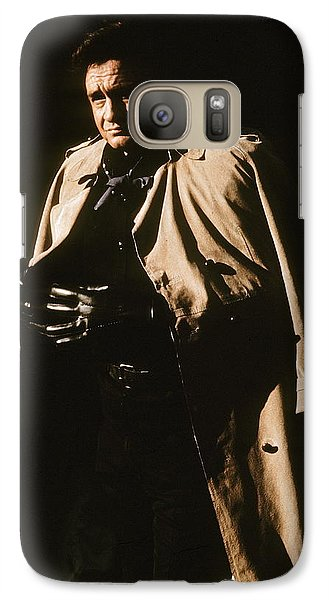 Galaxy Case featuring the photograph Johnny Cash Trench Coat Variation  Old Tucson Arizona 1971 by David Lee Guss