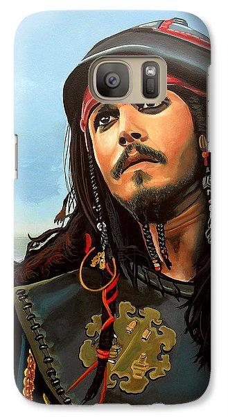 Johnny Depp As Jack Sparrow Galaxy Case by Paul Meijering