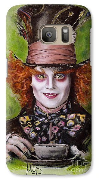 Johnny Depp As Mad Hatter Galaxy S7 Case