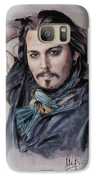 Johnny Depp Galaxy S7 Case by Melanie D