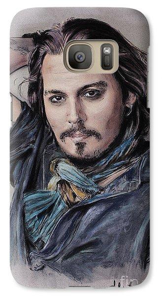 Johnny Depp Galaxy Case by Melanie D