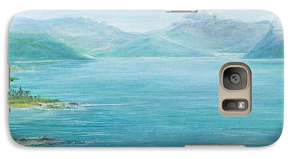 Galaxy Case featuring the painting John's Cabin by Cathy Long