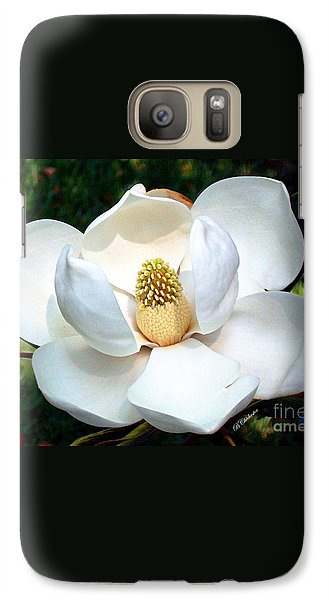 Galaxy Case featuring the photograph John's Magnolia by Barbara Chichester