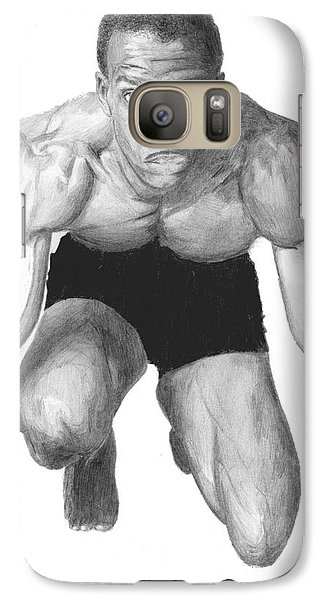 Galaxy Case featuring the drawing Johnson by Tamir Barkan