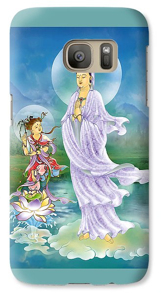 Galaxy Case featuring the photograph Joining Palms Kuan Yin by Lanjee Chee