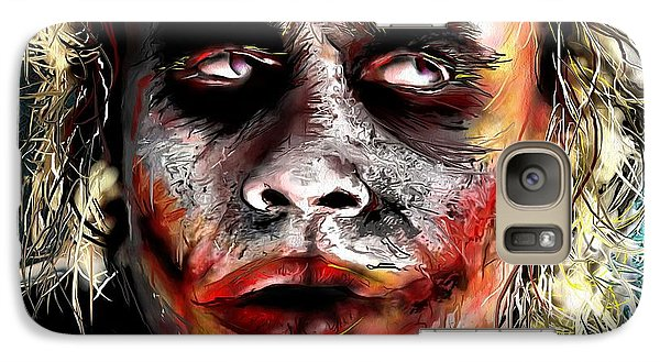 Joker Painting Galaxy S7 Case by Daniel Janda