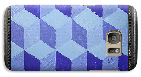 Galaxy Case featuring the painting Jolly Cubes by Tate Fallon