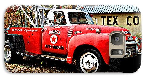 Galaxy Case featuring the digital art Jone's Tex Co Auto Repair by K Scott Teeters