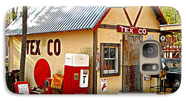 Galaxy Case featuring the digital art Jones' Tex Co Station by K Scott Teeters