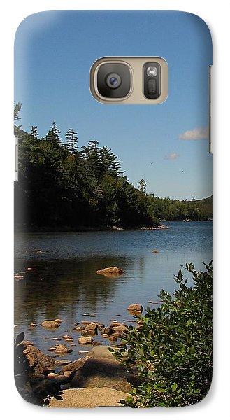 Galaxy Case featuring the photograph Jordan Pond Bar Harbor Maine by Jennifer Wheatley Wolf