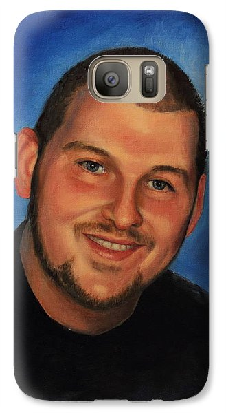 Galaxy Case featuring the painting Josh by Glenn Beasley